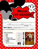 Disney Themed Meet the Teacher/Open House Letter {Editable}