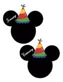 Disney Themed Monthly Birthday Cutouts