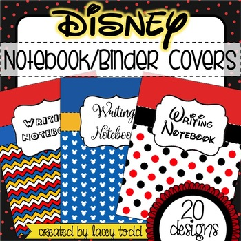 20 Disney-Themed Notebook/Binder Covers (EDITABLE)