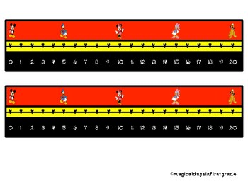 Disney Themed Number Path 0 - 10 and 0 - 20