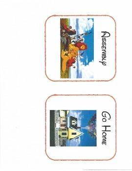 Disney Themed Schedule Cards for Kindergarten