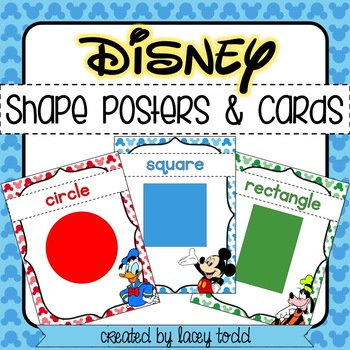 Disney-Themed Shape Cards and Posters (17 SHAPES)