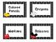 Disney Themed Supply Cards *** Black & White Polkadots***