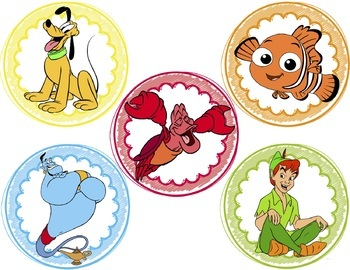 Disney-Themed Table/Group Labels (TEN LABELS)