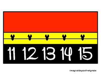 Disney Themed Wall Number Line 0 - 120
