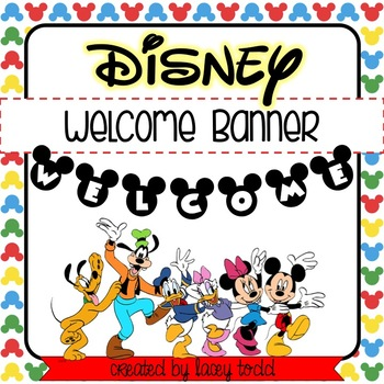 Disney-Themed Welcome Banner
