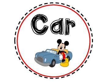 Disney Transportation Sign