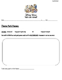 Disney Trip Math Project Recording Packet