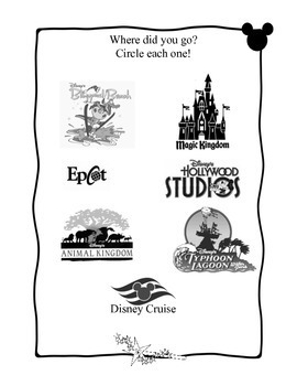 Disney Trip Vacation Journal -- Instant hw for student leaving/also non-disney