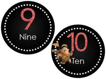 Disney UP Glitter Numbers 1-100