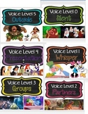 Disney VOICE LEVEL charts with visuals