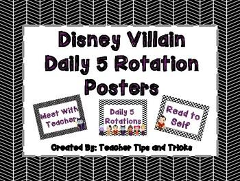 Disney Villain Daily 5 Posters