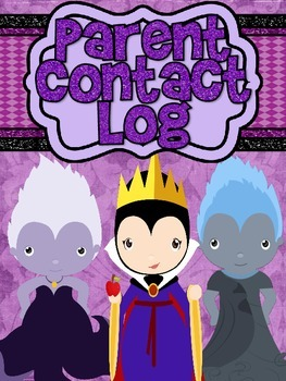 Villains Parent Contact and Conference Log