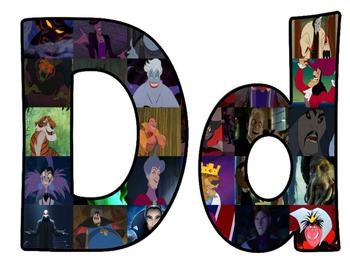 Disney Villians BB Letters
