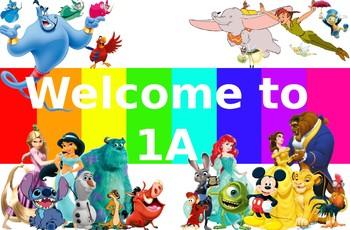 Disney Welcome Sign - editable