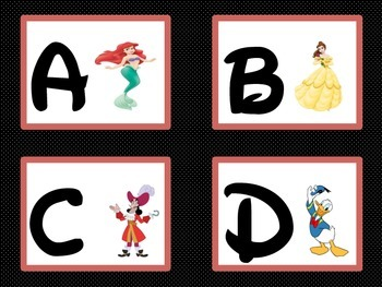Disney Word Wall Alphabet Cards