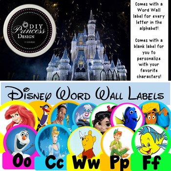 Disney Word Wall Labels
