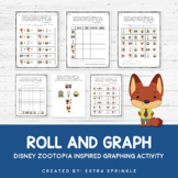Disney Zootopia Inspired Roll and Graph Activity + Data Sheets