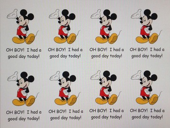 Disney behavior clip chart with weekly log and daily notes