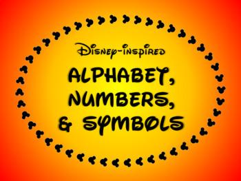 Disney-inspired Alphabet, Numbers, & Symbols FREEBIE