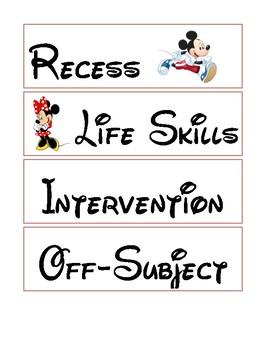 Disney-inspired Classroom Schedule: Part 2