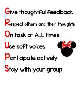 Group Work Sign - Disney Theme