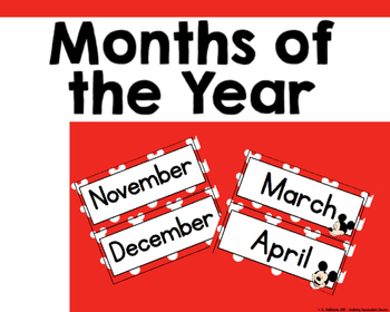 Disney inspired Months of the Year Header