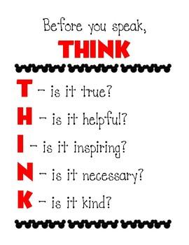 "Disney-inspired ""Think"" Sheet"