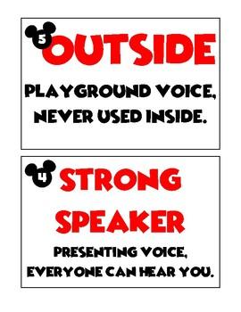 Disney-inspired Voice Level Chart