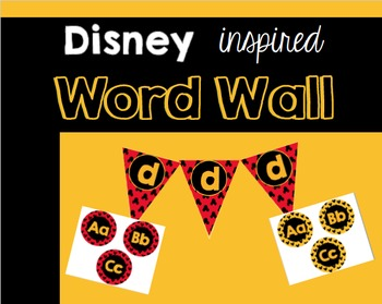 Disney inspired Word Wall letters