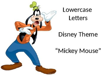 Disney - lowercase letters
