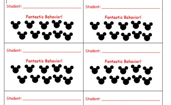 Disney punch cards