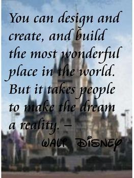 Disney quote poster