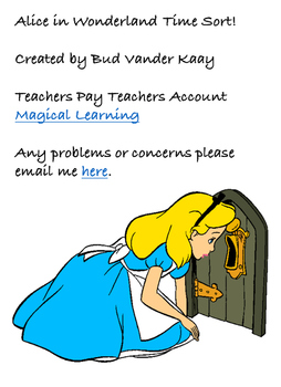 Disney's Alice in Wonderland Time Sort