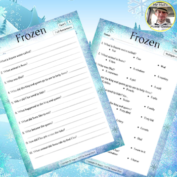 Frozen Movie Guide + Extras - Answer Keys Included (Color + Black & White)