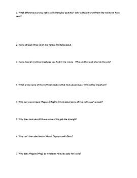 Disney's Hercules PARCC bases movie questions
