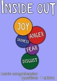 Inside Out Movie Guide + Activities (Group Work) - (Color + Black & White)