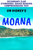 Disney's Moana (2016) Movie Guide/Analysis Multiple-Choice Test