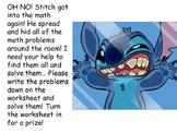 Disney's Stitch Groups of Ten Subtraction