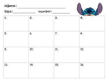 Disney's Stitch Groups of Ten Subtraction