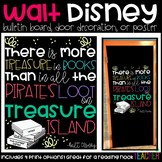 """Disney's """"There is More Treasure in Books"""" Bulletin Board, Door Decor, or Poster"""