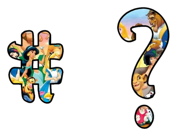 Disney style Script Punctuation and numbers