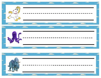 Disney themed Toy Story name/desk tags (15 different tags)
