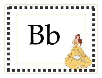 Disney themed alphabet  (Print)