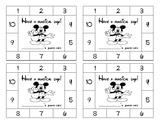 Disney themed punch card with 10 spots