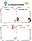 DisneyThemed Kindergarten Newsletter