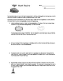 Disney's Cars Math Review Worksheet