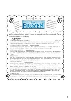Disney's Frozen Sentence Building