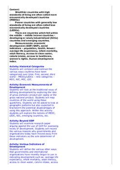 Disparities in Wealth & Development - An MYP Humanities/Geography Unit