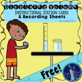 Displaced Volume Station Instructions & Recording Sheets {Freebie}